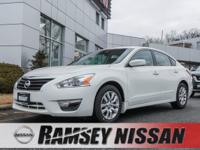 New Price! Certified. Pearl White 2015 Nissan Altima