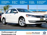 Certified. White 2015 Volkswagen Passat 1.8T Limited