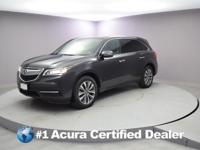 Certified. 2016 Acura MDX 3.5L CARFAX One-Owner. Priced