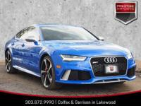 Blue (Audi Exclusive) 2016 Audi RS 7 4.0T Prestige