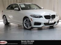 This Certified Pre-Owned 2016 BMW 228i is a One Owner