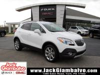 Certified. Summit White 2016 Buick Encore Leather AWD