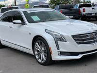 Clean CARFAX. Certified. White 2016 Cadillac CT6 3.0L