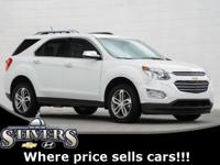 2016 Chevrolet Equinox LTZ Summit White Certified.