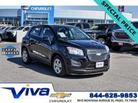 Certified. Black Granite Metallic 2016 Chevrolet Trax