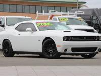 Clean CARFAX. Bright White Clearcoat 2016 Dodge