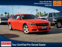 Certified. Go Mango 2016 Dodge Charger SE RWD 8-Speed
