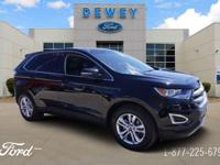 Certified. Shadow Black 2016 Ford Edge SEL