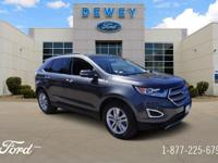 Certified. Magnetic Metallic 2016 Ford Edge SEL AWD