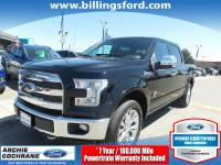 Certified. Shadow Black 2016 Ford F-150 King Ranch