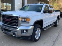 White 2016 GMC Sierra 2500HD SLT 4WD Allison 1000