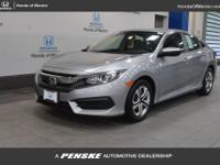 2016 Honda Civic LX HONDA CERTIFIED, INCLUDES WARRANTY,