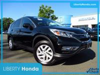 Certified. Black 2016 Honda CR-V EX AWD CVT 2.4L I4