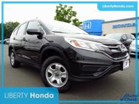 Certified. Black 2016 Honda CR-V LX AWD CVT 2.4L I4