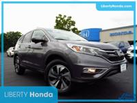 Certified. Brown 2016 Honda CR-V Touring AWD CVT 2.4L