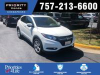2016 Honda EX HR-V White Multi-Angle Backup Camera,