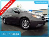 Certified. Brown 2016 Honda Odyssey EX-L FWD 6-Speed