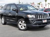 Certified. Black Clearcoat 2016 Jeep Compass Sport FWD