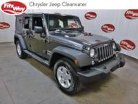 Certified.Gray 2016 Jeep Wrangler Unlimited Sport 4WD