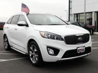 CARFAX One-Owner. Clean CARFAX. 2016 Kia White Sorento
