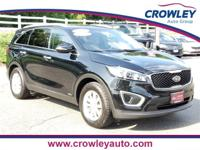 (Kia Certified) 2016 Kia Sorento LX in Ebony Black AWD.