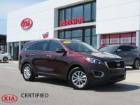 2016 Kia Sorento LX Sangria AM/FM/CD/MP3 Audio System,