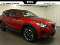 2016 Mazda CX-5 Grand Touring in soul red metallic,