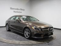 Certified. Brown 2016 Mercedes-Benz CLS CLS 400 4MATIC