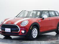 Clubman trim, Blazing Red metallic exterior and Carbon
