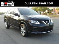 CARFAX One-Owner. Certified. Black 2016 Nissan Rogue SV