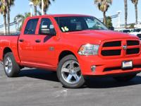 Certified. Flame Red Clearcoat 2016 Ram 1500 Express