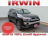 4WD! TOYOTA CERTIFIED! LOW MILES! LOADED! LEATHER!
