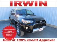 4WD! TOYOTA CERTIFIED! LOW MILES! SUNROOF/MOONROOF!