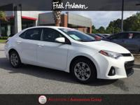 CARFAX One-Owner. 2016 Toyota Certified. Corolla S