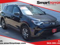 Certified. Black 2016 Toyota RAV4 LE AWD 6-Speed