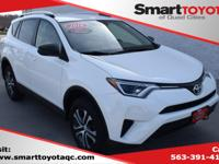 Certified. Super White 2016 Toyota RAV4 LE FWD 6-Speed