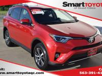 Certified. Red 2016 Toyota RAV4 XLE FWD 6-Speed