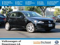 Certified. Black 2016 Volkswagen Golf TSI S 4-Door
