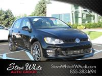 CARFAX One-Owner. Black Uni 2016 Volkswagen Golf TSI SE