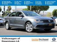Certified. Platinum Gray 2016 Volkswagen Jetta 1.4T SE