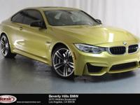 This Certified Pre-Owned 2017 BMW M4 is a One Owner