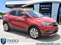 2017 Red Buick Encore Certified. CARFAX One-Owner.
