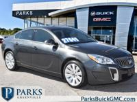 2017 Gray Buick Regal Certified. CARFAX One-Owner.