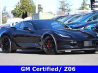 Certified. 2017 Chevrolet Corvette Z06 RWD Black