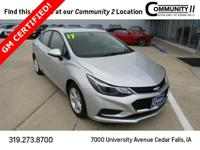 This Chevrolet Cruze has great equipment and many