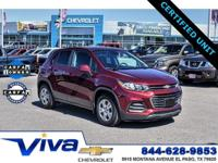 Certified. crimson metallic 2017 Chevrolet Trax LS FWD