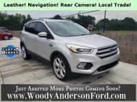 Clean CARFAX. Rear View Camera, Leather Seating, 1.5L
