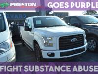 CARFAX One-Owner. Oxford White 2017 Ford F-150 XLT 4WD