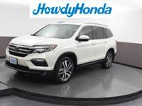 2017 Honda Pilot Elite White Diamond Pearl Clean