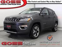 2017 Jeep Compass Limited, 4WD, 9-Speed Automatic, 2.4L
